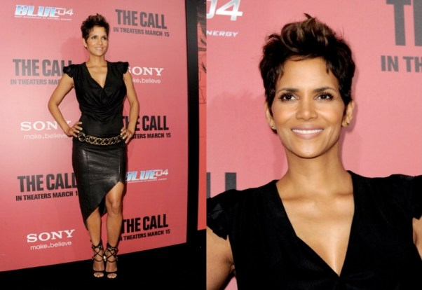 Halle Berre in Helmut Lang at The Call Premiere