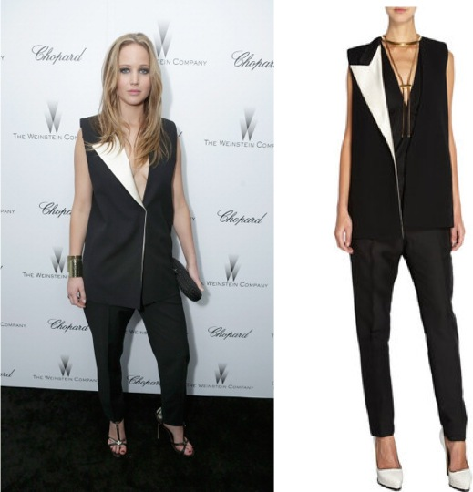 Jennifer Lawrence in Lanvin at Weinstein Company Oscar party