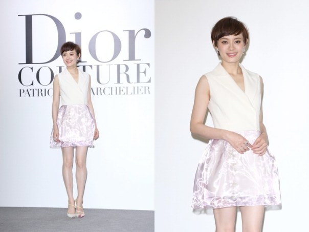 Sun Li in Dior Couture - Dior Photography Exhibition