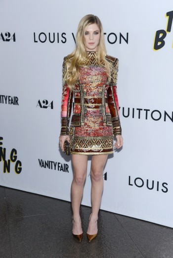 Claire Julien in Balmain at the premiere of A24's