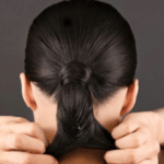 Start a fishtail braid and continue for about two inches.