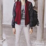 Emily -Emily Wool Vest Jacket -Emily Lipsticks Muscle Tank -Emily Lola High Rise Jegging
