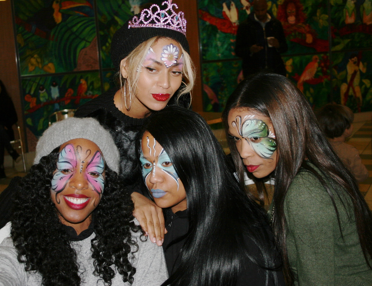 Kelly Rowland, Beyoncé Knowles, Angie Beyince and Michelle Williams
