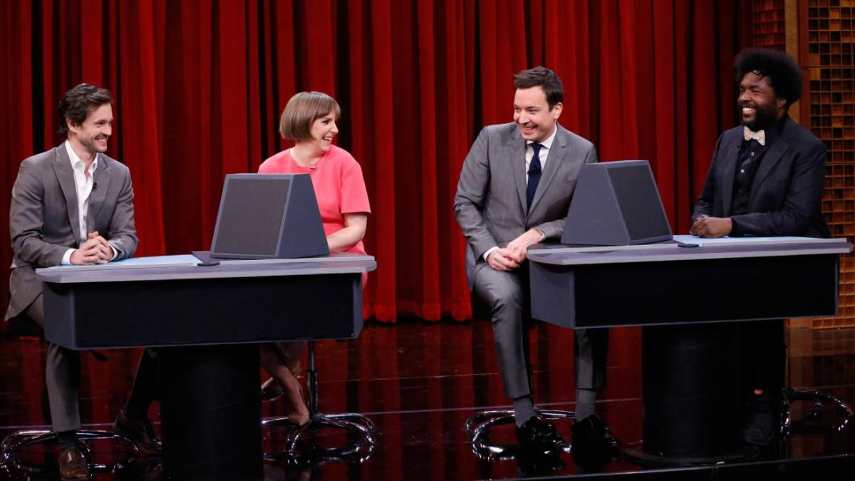 TV Time: Lena Dunham and Hugh Dancy Play Pyramid on 'Tonight Show' [VIDEO]