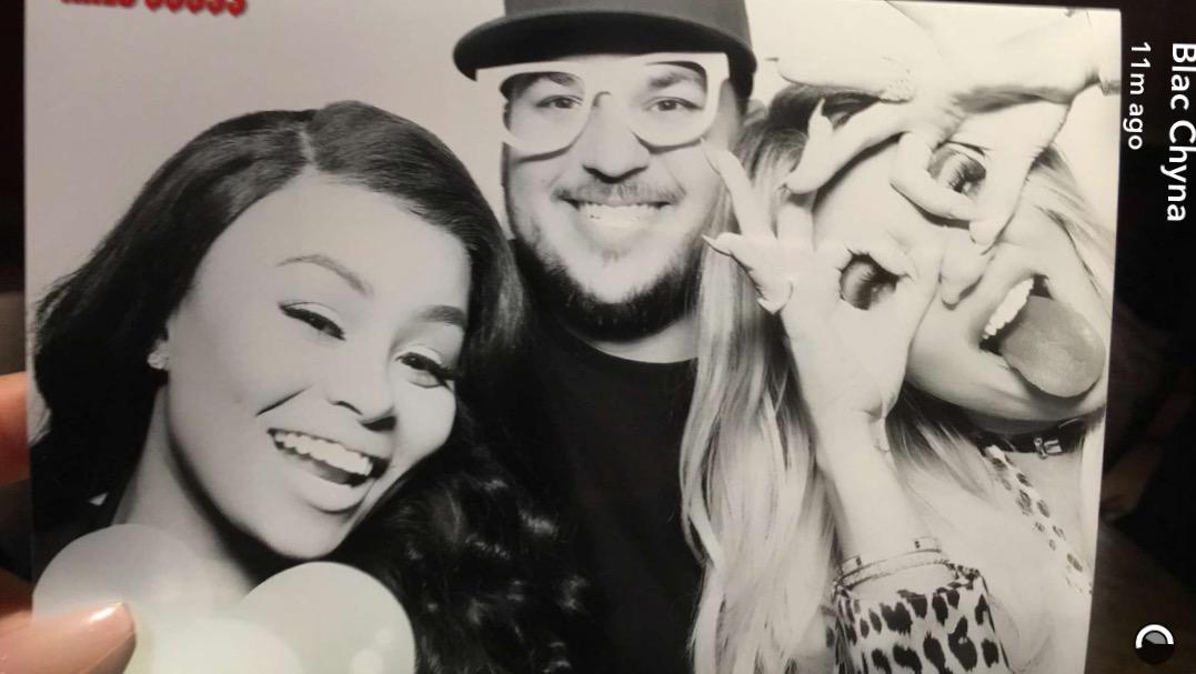 Blac Chyna, Rob Kardashian, and Khloe Kardashian 2