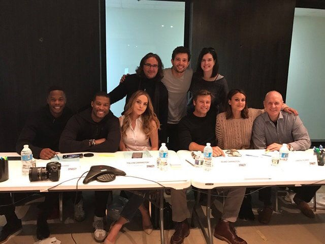 First Picture of 'Dynasty' cast/ Photo: Alan Dale Twitter