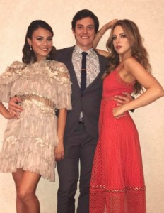 Nathalie Kelley, Liz Gillies, and James MacKay at The CW Upfronts/ Photo: Instagram