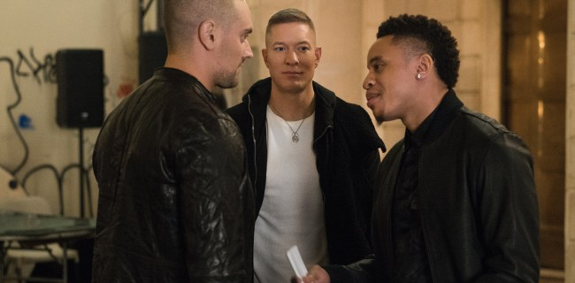 Aleksandar Popovic, Joseph Sikora, and Rotimi (L-R) in Power season 4/Photo: Courtesy of STARZ