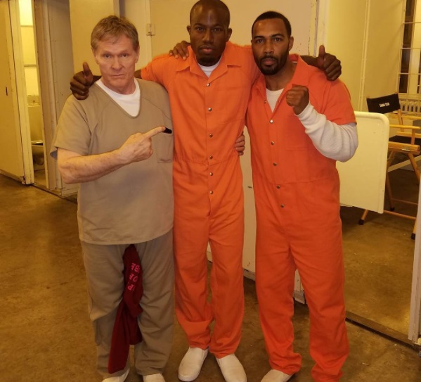 William Sadler, Guyviaud Joseph, and Omari Hardwick (L-R)in Power season 4/ Photo: Instagram