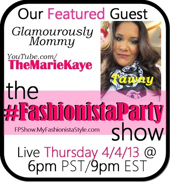 I'm the featured guest on The #FashionistaParty Show!