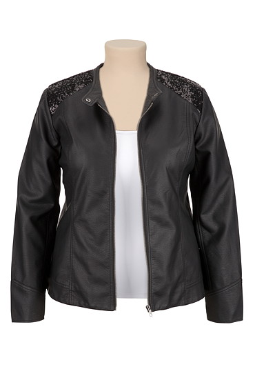 Maurices Plus Size Motorcycle sequined jacket