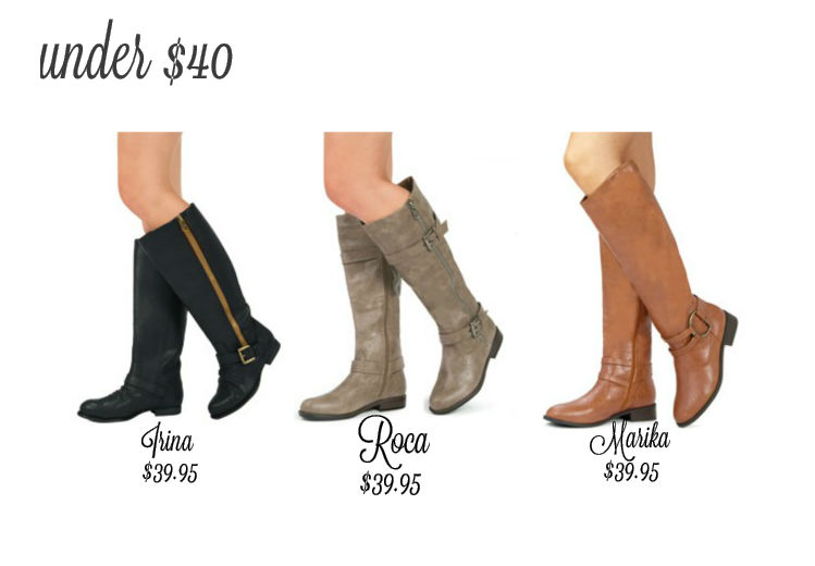 Wide calf boots under $40