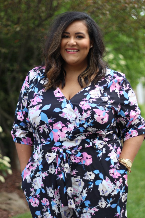 Boutique +, Plus size fashion, Plus size floral romper, Ashley Tipton
