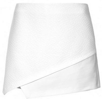 topshop white textured skort