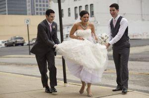 run in your wedding dress