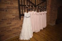 light pink blush chiffon bridesmaid dresses