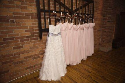light pink blush chiffon bridesmaid dresses