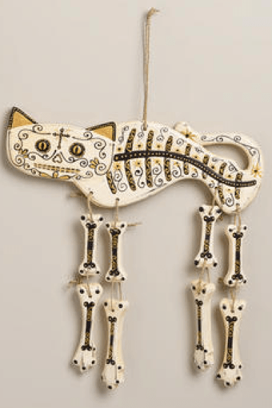 World Market Cat Skeleton Decor