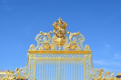 The golden gates of The Palace of Versailles