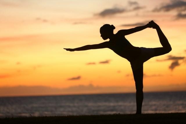 Yoga on the beach: a fool's game