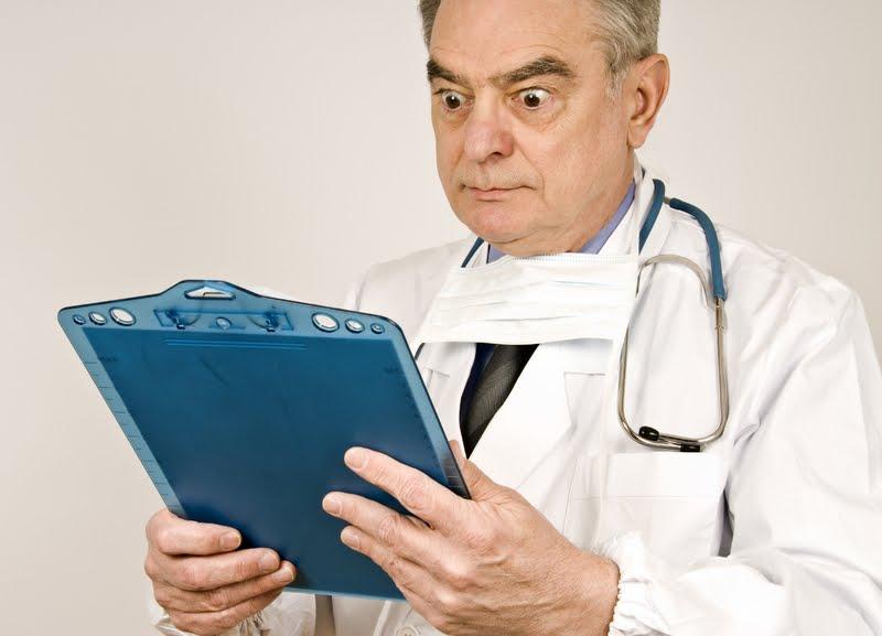 Dr Dias studies his findings