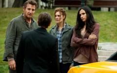 Liam Neeson becalms a distressed Daniel Radcliffe