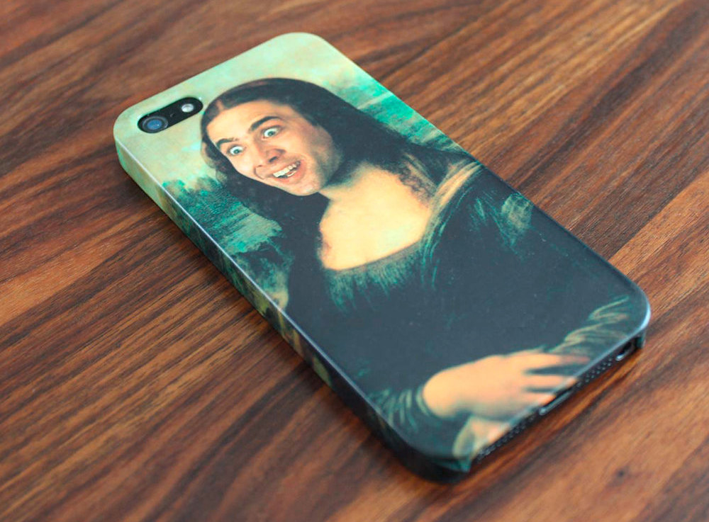 Nicholas Cage as Mona Lisa phone