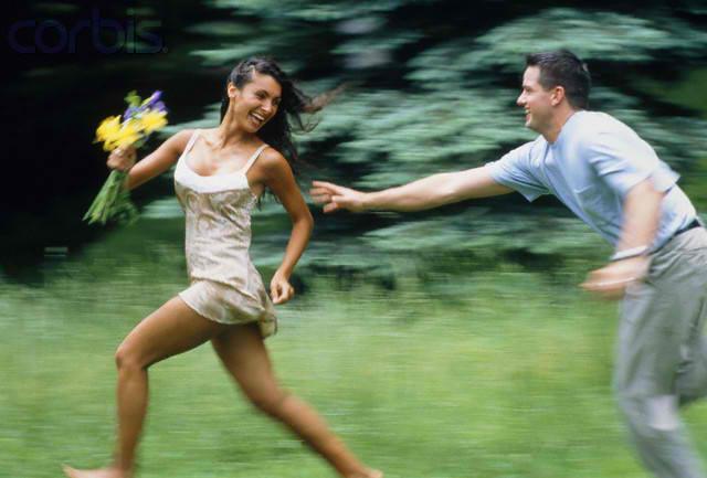 Man-woman-chase
