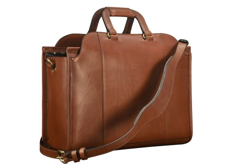Hand-burnished-espresso-Day-Tote;-17-x-12-x-6-back