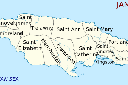 map of jamaica en svg