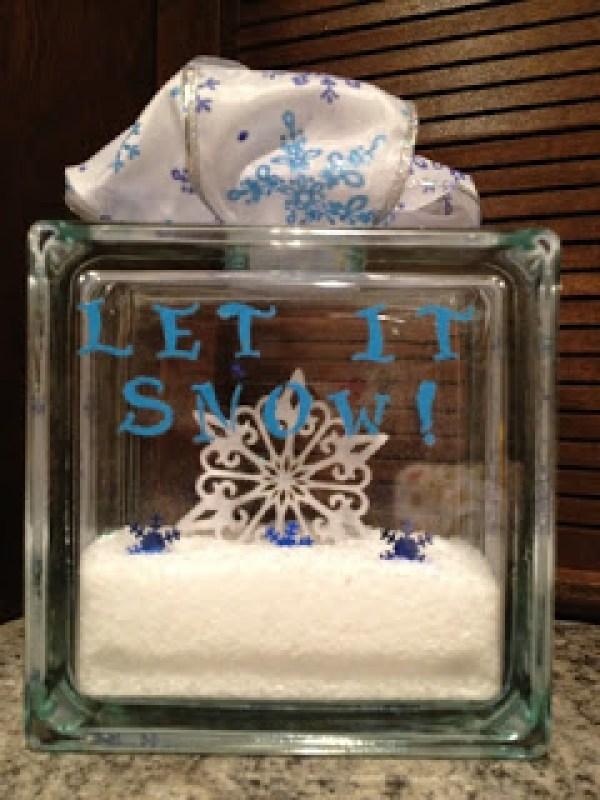 6 glass christmas decorations glass art - Glass block decoration ideas ...