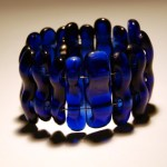 Recycled bottle glass bracelet