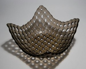 Fused Recycled Glass - Bronze Lattice