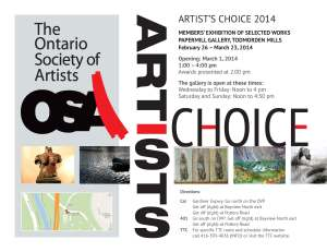 OSA Artists Choice -Invite