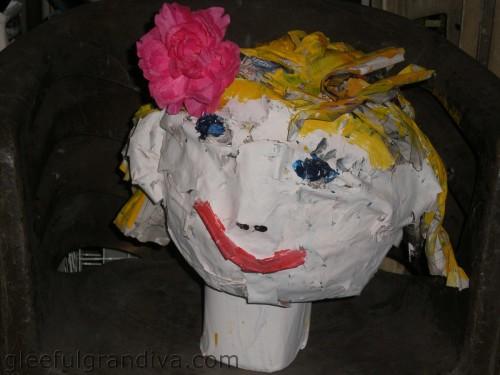 paper Mache head