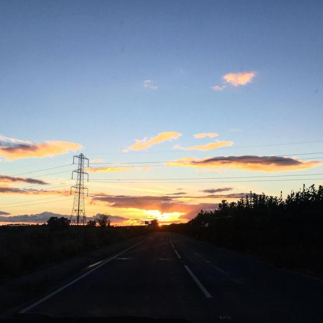 Last nights stunning sunset Picture doesnt do it justice