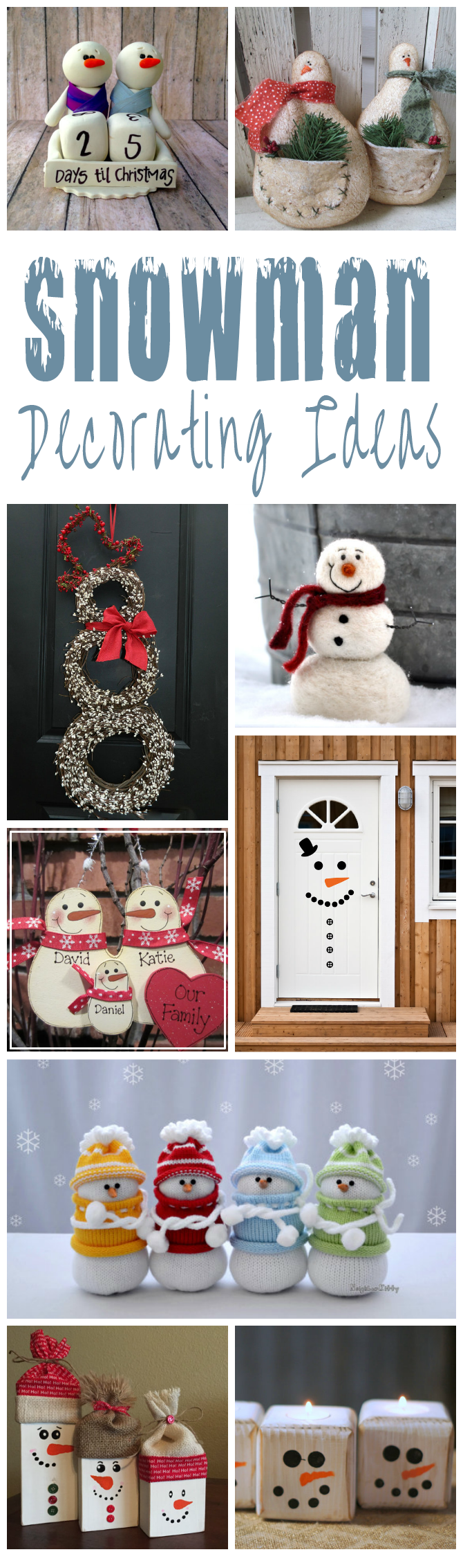 Snowman Decorating Ideas For Christmas     Glitter  N Spice Snowman Decorating Ideas For Christmas