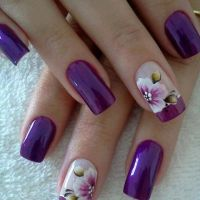 Nail Art with Rose Tulip Jasmine Flower Design - Womenitems.Com