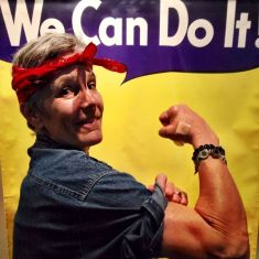 Throughout the design process, this was Vicki's mindset: We Can Do It! (photo from the National WWII Museum in New Orleans)