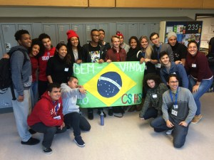 Brazil Youth Ambassadors and students from Chief Sealth International High School