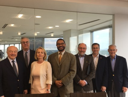 Ambassador Jack Matlock, Rich Lauf (GCWAC Board Chair), Oxana Prokhorova (UC), Gregory Hall (UK), Dr. Willard Sunderland (UC), Dr. Richard Harknett (UC), John Pepper (P&G)