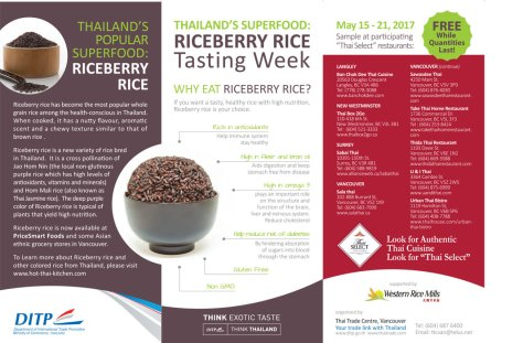 Thai Riceberry Tasting Week in Vancouver