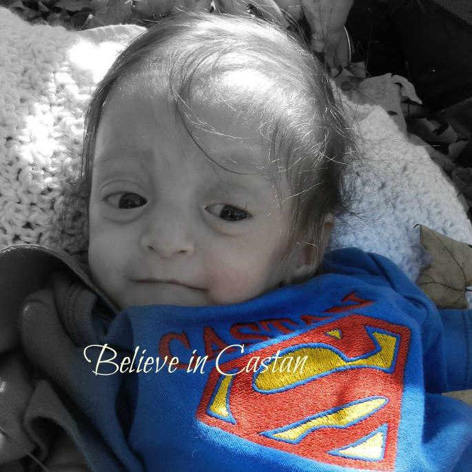 """""""Believe in Castan"""" is a Facebook page created for raising awareness and providing hope for others who are diagnosed with Mosaic Triploidy."""