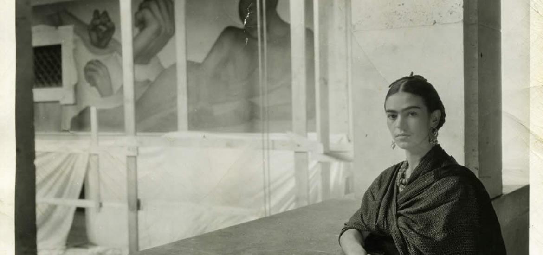 Kahlo in Casa Azull bw