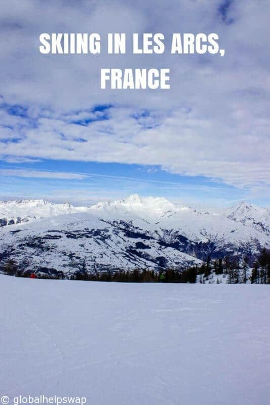 Skiing in Les Arcs, France