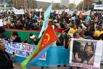 Switzerland UN Eritrea Demonstration