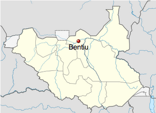 This map shows Unity State and the city Bentiu in the South Sudan. Map credit: Wikipedia Commons / NordNordWest