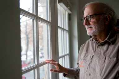 In this photo taken Dec. 11, 2015, Alan Gross poses for a portrait in his home in Washington. Alan Gross spent five years in a Cuban prison. (AP Photo/Jacquelyn Martin)