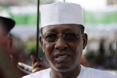 Chadian President Idriss Deby. (AP Photo/Sunday Alamba)