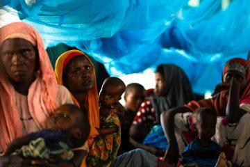 Newly arrived Somali refugees at Ifo camp, one of three camps that make up sprawling Dadaab refugee camp in  northeastern Kenya, June 15, 2011. (EPA/Dai Kurokawa)